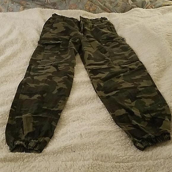 82db015d0419d Fashion Nova Pants   Womens Cargo Style Army Fatigue Print   Poshmark